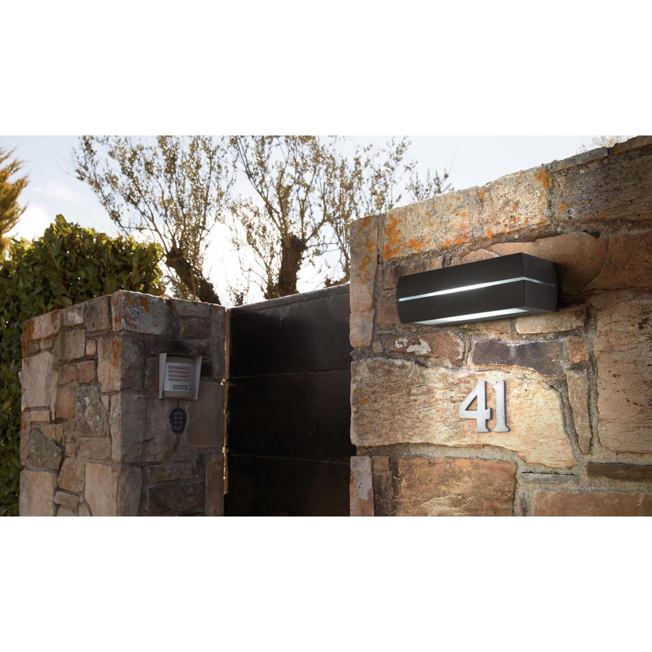 DRAGMA Dark grey wall lamp