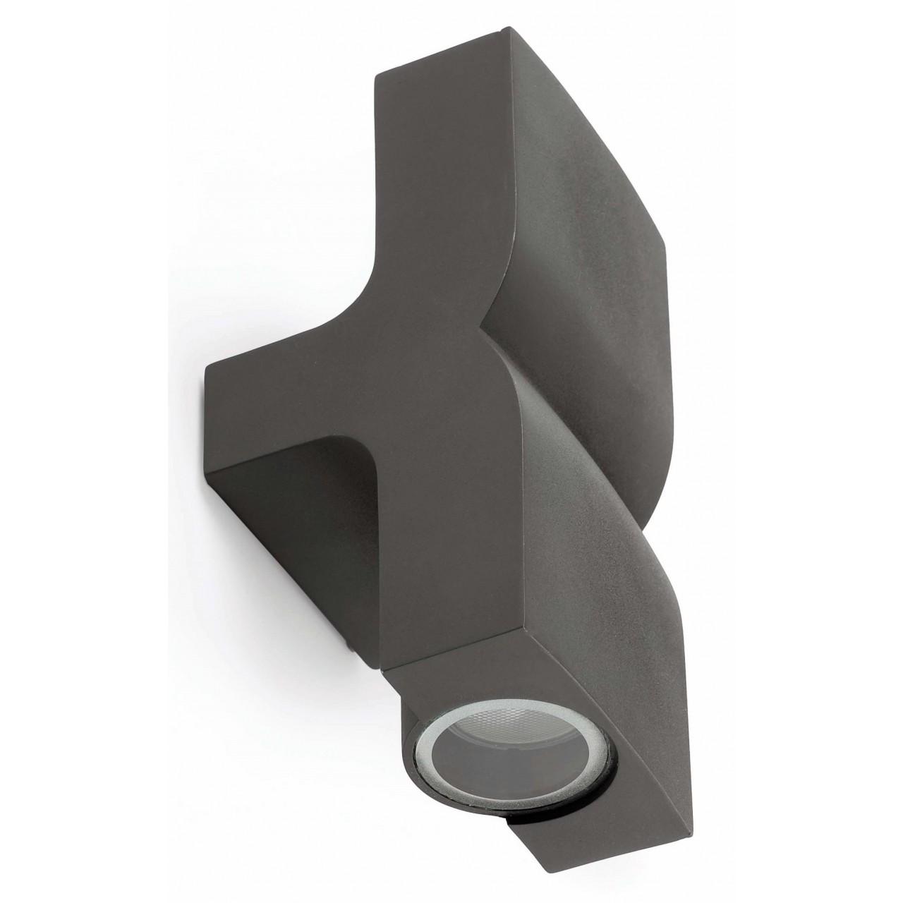 Klamp Dark grey wall lamp 2L