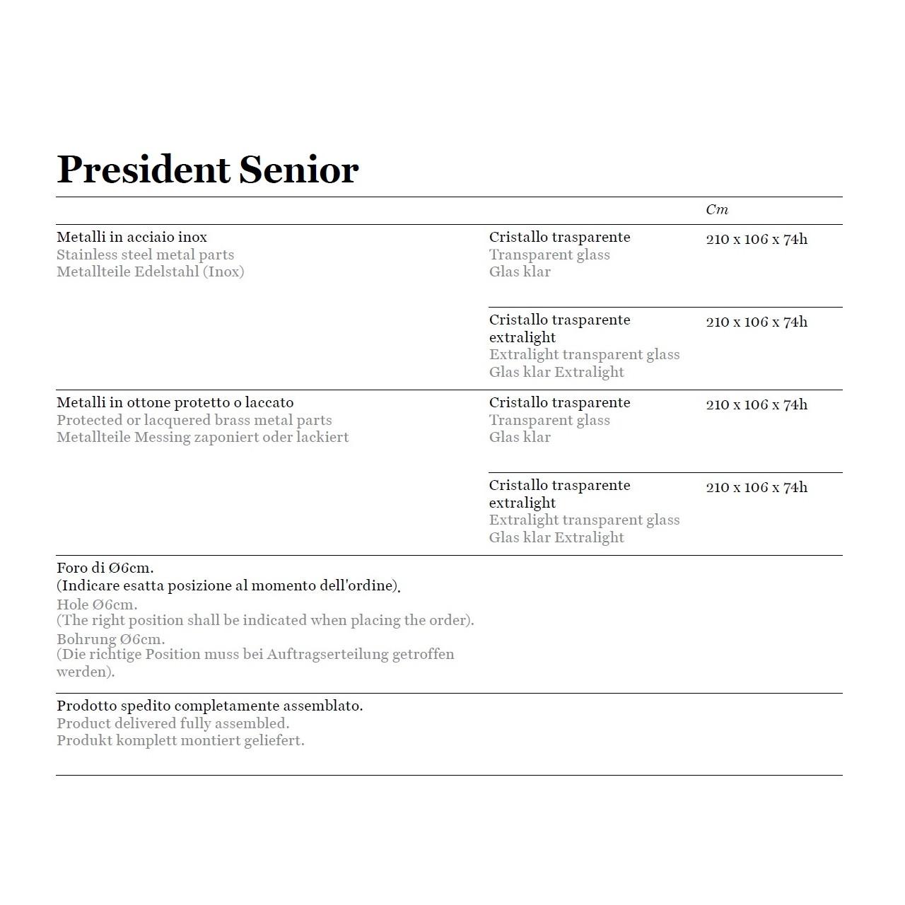 President Senior & Junior