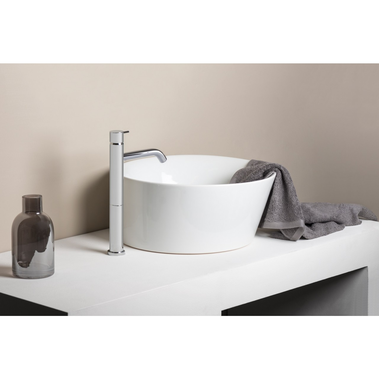 Diametro35Inox - Exposed Single Lever Basin Mixer