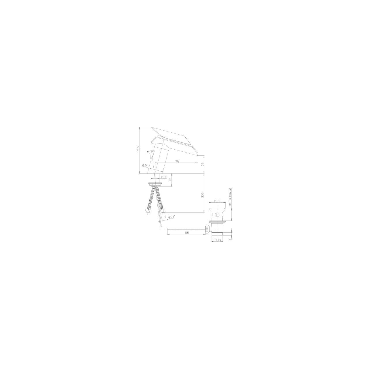 Paini basin mixer MORGANA 211