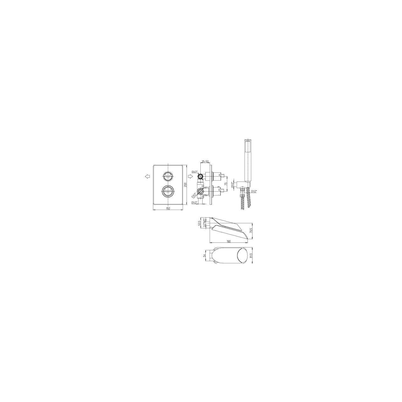 Paini thermostatic mixer MORGANA 433 TH