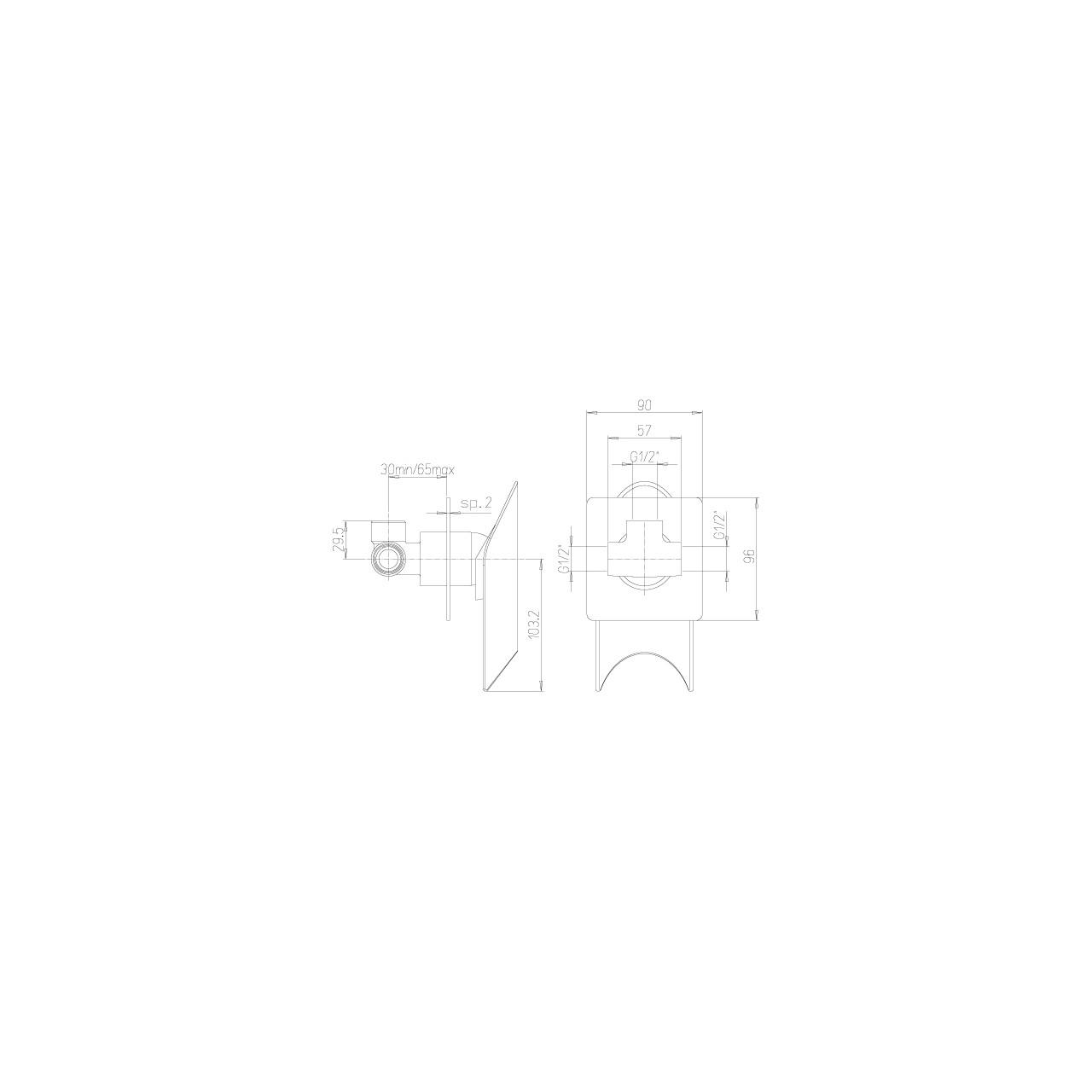 Paini shower mixer MORGANA 690 TH