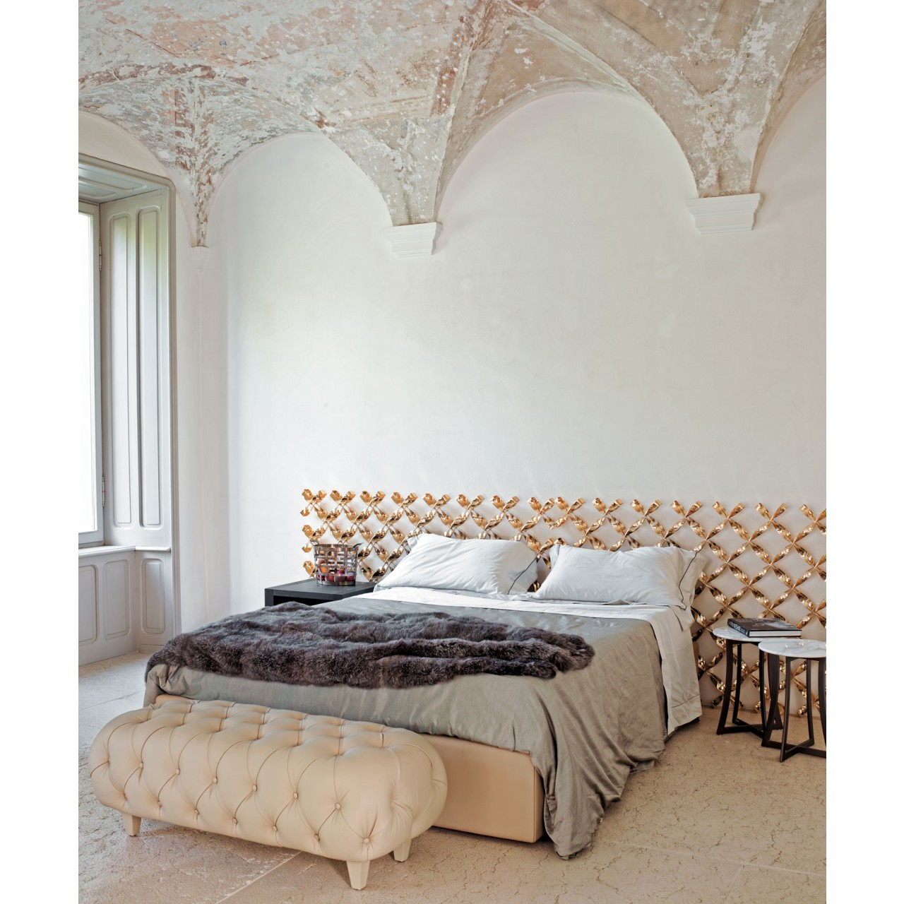 Empire leather bedframe