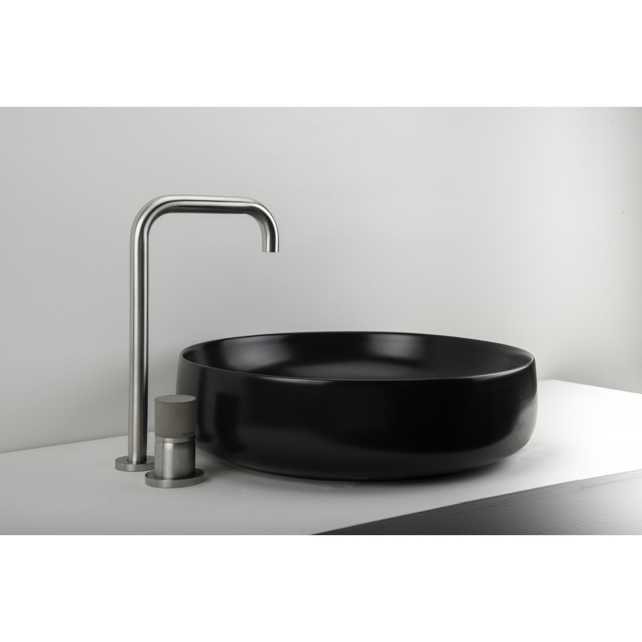 Diametro35InoxConcrete - Single Lever Basin Mixer