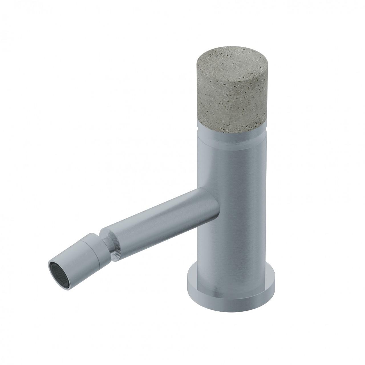 Diametro35InoxConcrete - Single Lever Bidet Mixer