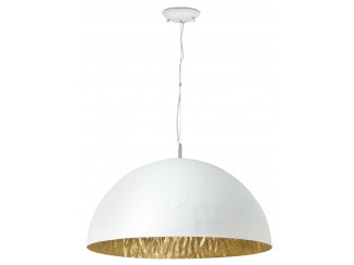 MAGMA-Q White and gold pendant lamp 3L