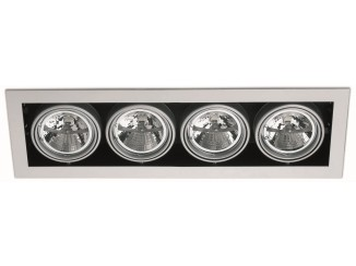 HELIO-4 Grey / White recessed