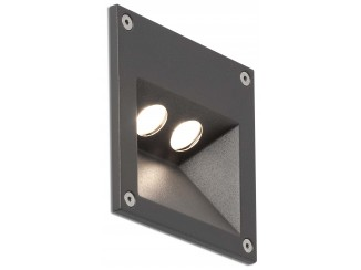 CITRUS-2 LED Dark grey recessed lamp