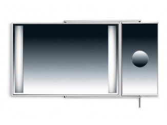 ATHENA K 8052 Double rectangular mirror with lights