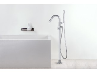 Diametro35Inox - Standing Floor Bath Group