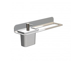 Fittings - Stainless Steel Single Towel Rail With Liquid Soap Holder