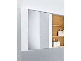 Wood mirror with case