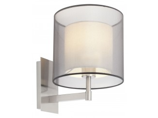 SABA Matt nickel wall lamp
