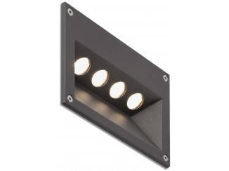 CITRUS-4 LED Dark grey recessed lamp