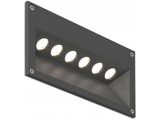 CITRUS-6 Dark grey recessed lamp