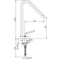 Paini kitchen mixer PIXEL NEW  572