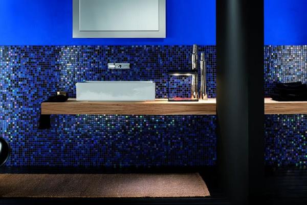 Bagni Blu Mosaico : Proposta di un bagno in mosaico